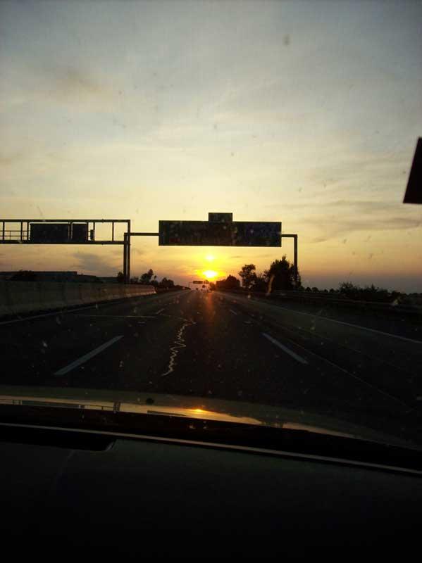 D1 při cestě domu