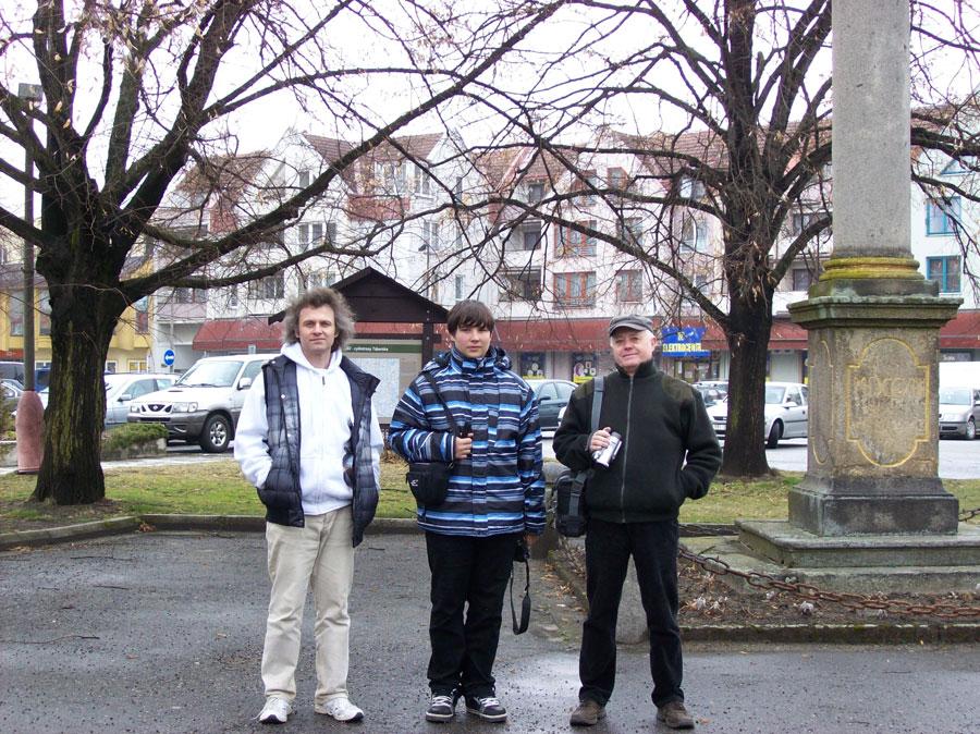 kolektivní foto na náměstí v Soběslavi