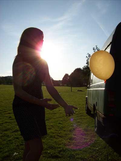 Andulka s míčem