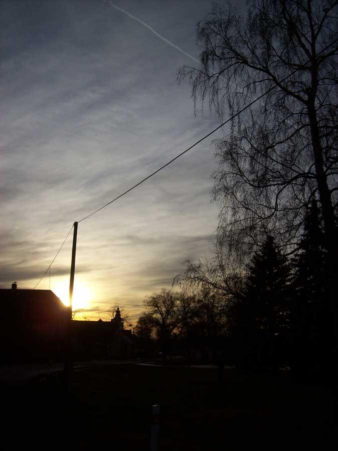 Západ slunce ve Velké Chmelištné